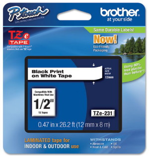 Brother TZE tape information
